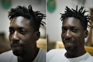 dread maintenance half head afro hair after before