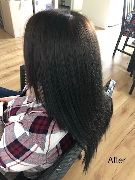 Dreadlocks removal and colour after