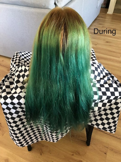 Dreadlocks removal and colour during