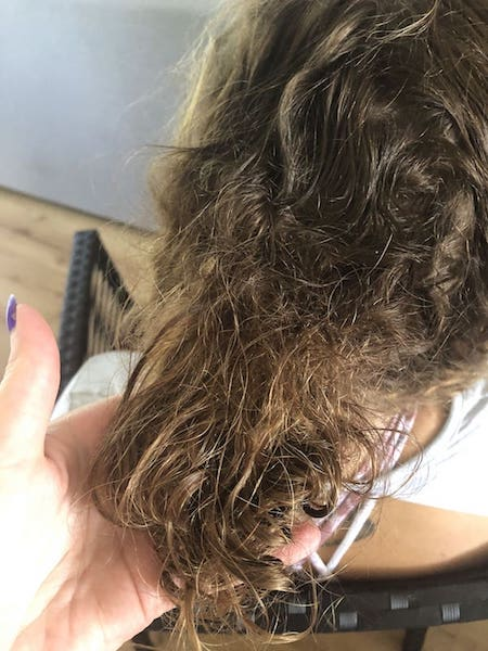 Hair knots removal dreads Sydney before