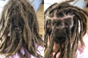 Sydney Dread maintenance Ellie before after