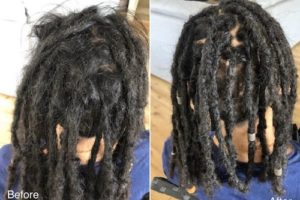 dreadlocks maintenance before after