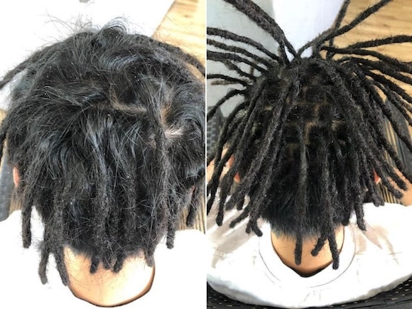 Dread maintenance half head before after