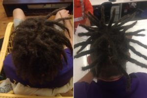 Half head dread maintenance Sydney before after