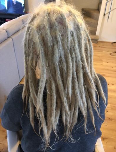 Dreadlocks bleaching colouring blonde