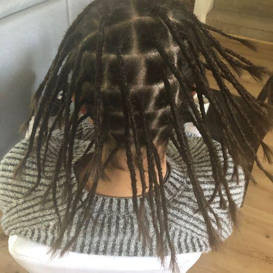Dread creation long hair Sydney after