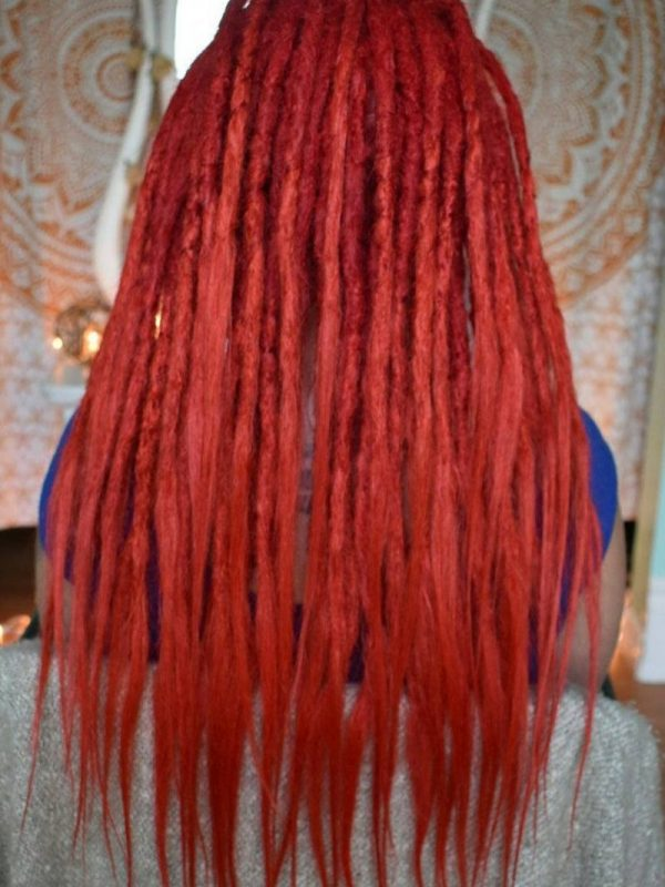 Sydney dreadlocks full head dread extensions red