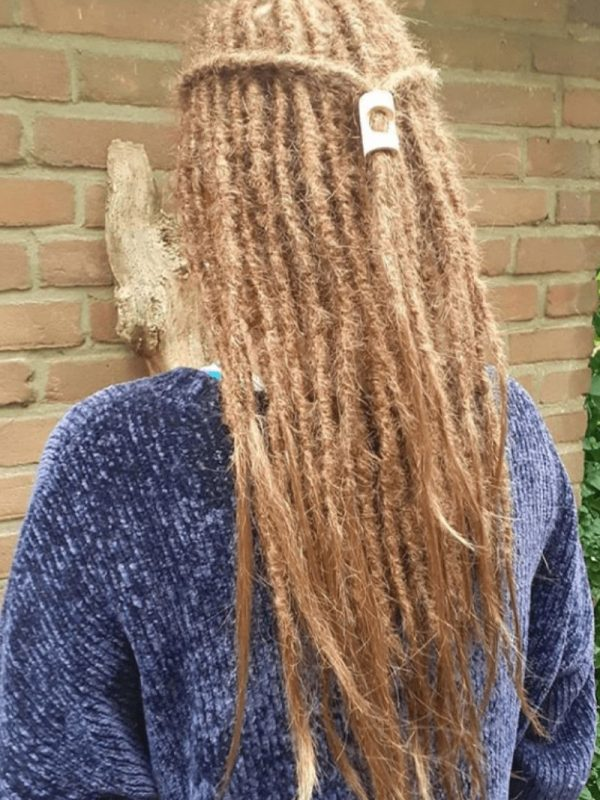 Sydney dreadlocks half head dread extensions blonde
