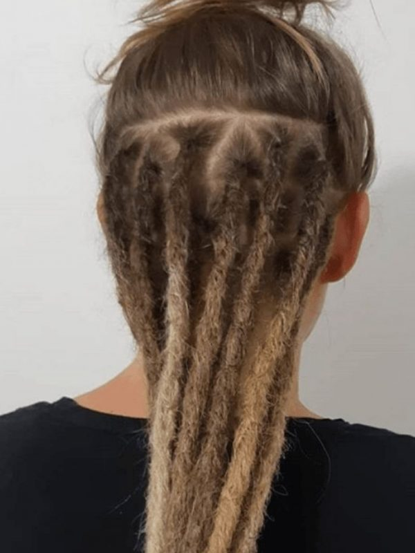 Sydney dreadlocks half head dread extensions underneath