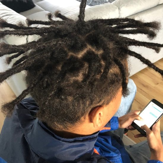 afro hair dread creation melbourne after