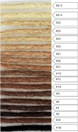 dreadlock extensions color chart natural